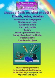 Affichette stages - Copie - Copie